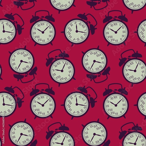 vintage background of the alarm clocks