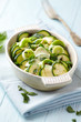 Oven-Baked Zucchini with Mozzarella and Leek
