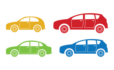 set of four cars