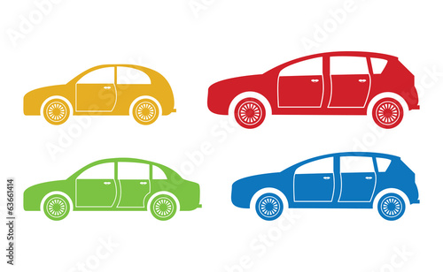 set of four cars