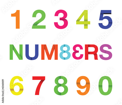 colourful paper numbers