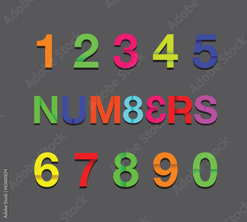 colour paper numbers