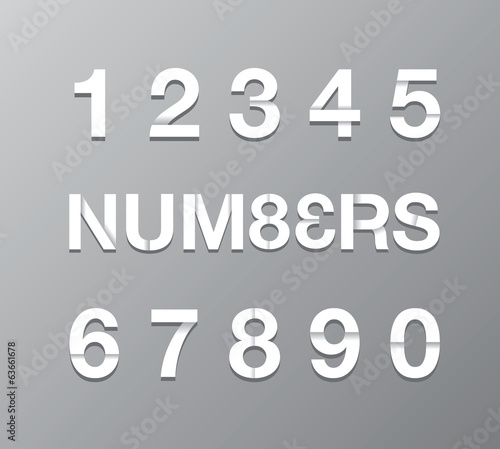 paper number background