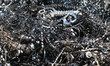 chips and curls of ferrous metal into landfill for recycling 3 - 63662407