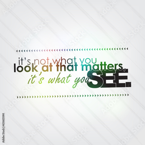 What you see matters - 63663044