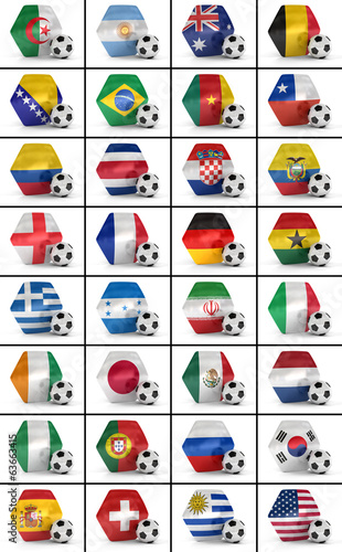 Soccer championship nations set