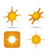 Abstract sun icon set