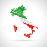 Fototapety italy map watercolor vector