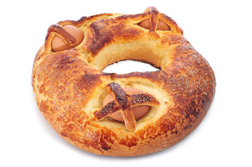 traditional mona de pascua typical in Spain, a cake with boiled