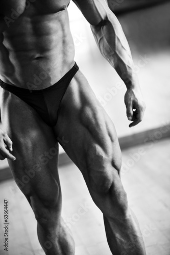 Low section of bodybuilder