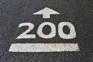 way in 200 meters