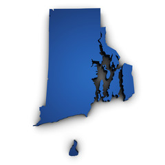Map Of Rhode Island State 3d Shape