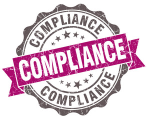 Compliance violet grunge retro vintage isolated seal