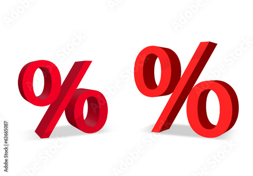 two big red percent signs
