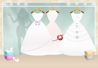 shop of Wedding clothes