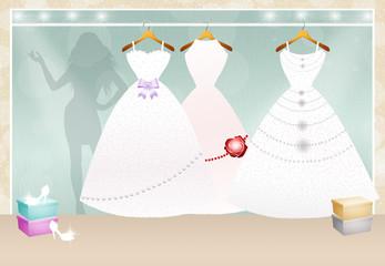 shop of Wedding clothes