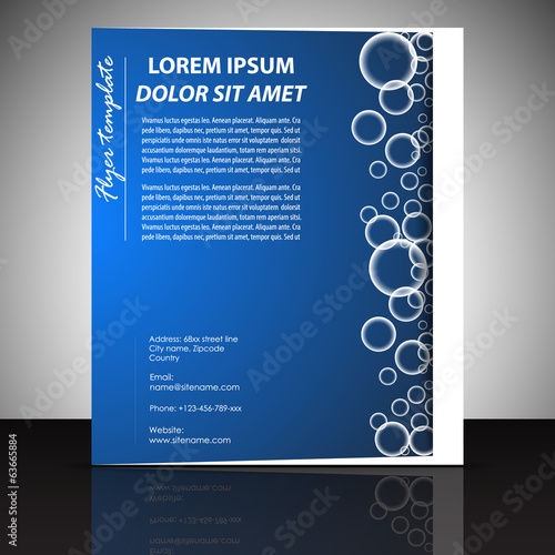 Business flyer template, brochure