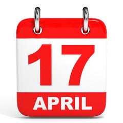 Calendar. 17 April.