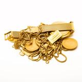 Fototapeta Złote elementy biżuterii