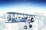 Biplane in Sky - 63666885