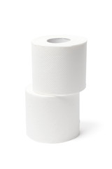 Two Toilet Paper Rolls - With Clipping Path