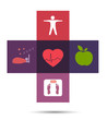 Colorful health care cross symbol