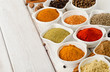 Assortment of powder spices