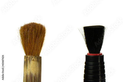 two brush isolated on the white background