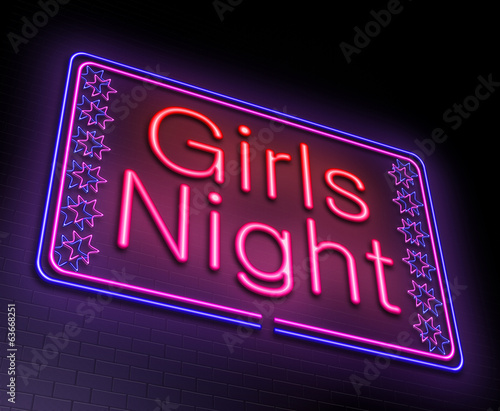 Girls night concept.