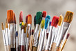 Paints and brushes - 63668678