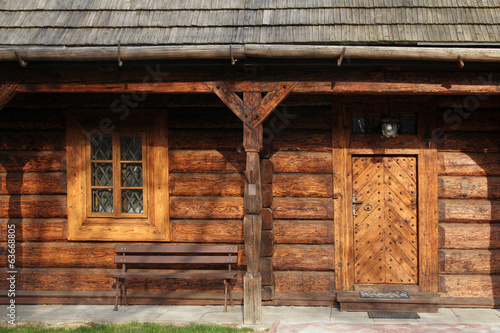 front side of old traditional wooden house