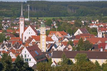 Allgäu, Mindelheim, Stadtblick von Katharinenkapelle