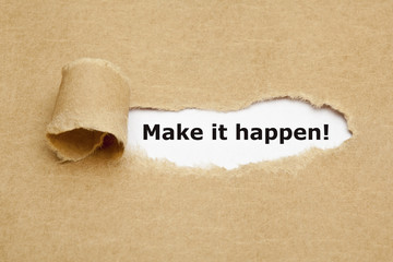 Make it happen Torn Paper