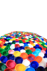 color plastic caps from pet bottles