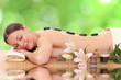 beautiful spa woman lying