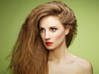 Portrait of beautiful sensual woman with elegant hairstyle.  Per