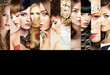 Beauty collage. Faces of women