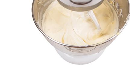 Mixing Cake Ingredients Mixer Bowl