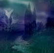 Halloween night background - haunted house