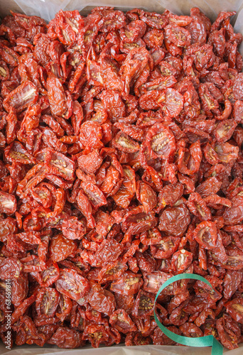 Closeup of Italian sun dried tomatoes