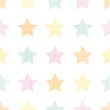 Stars textile textured pastel seamless pattern background