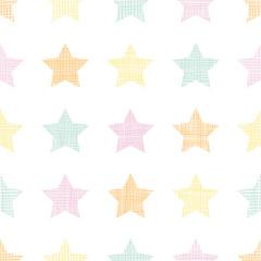 Stars textile textured pastel seamless pattern background