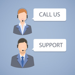 Call center support emblem