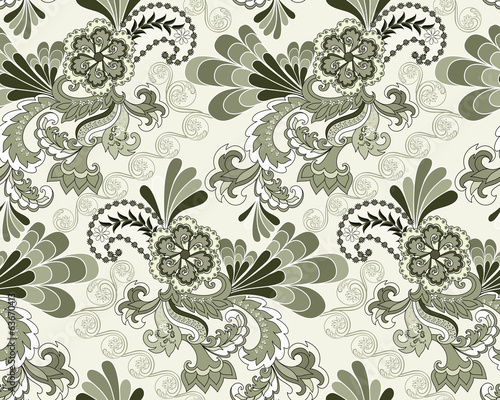 seamless pattern in pastel colors shades of green