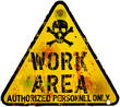 work area,warning / prohibition sign, vector
