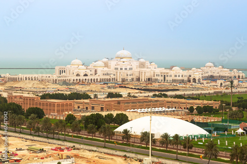 Presidential Palace building in Abu Dhabi, UAE
