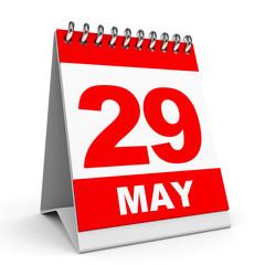 Calendar. 29 May.