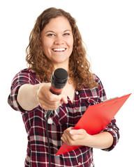 Junge Reporterin