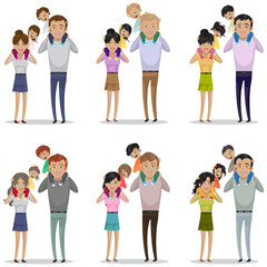 Portrait Of Happy Family Isolated On White Background