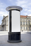 Fototapety advertising column with clipping path